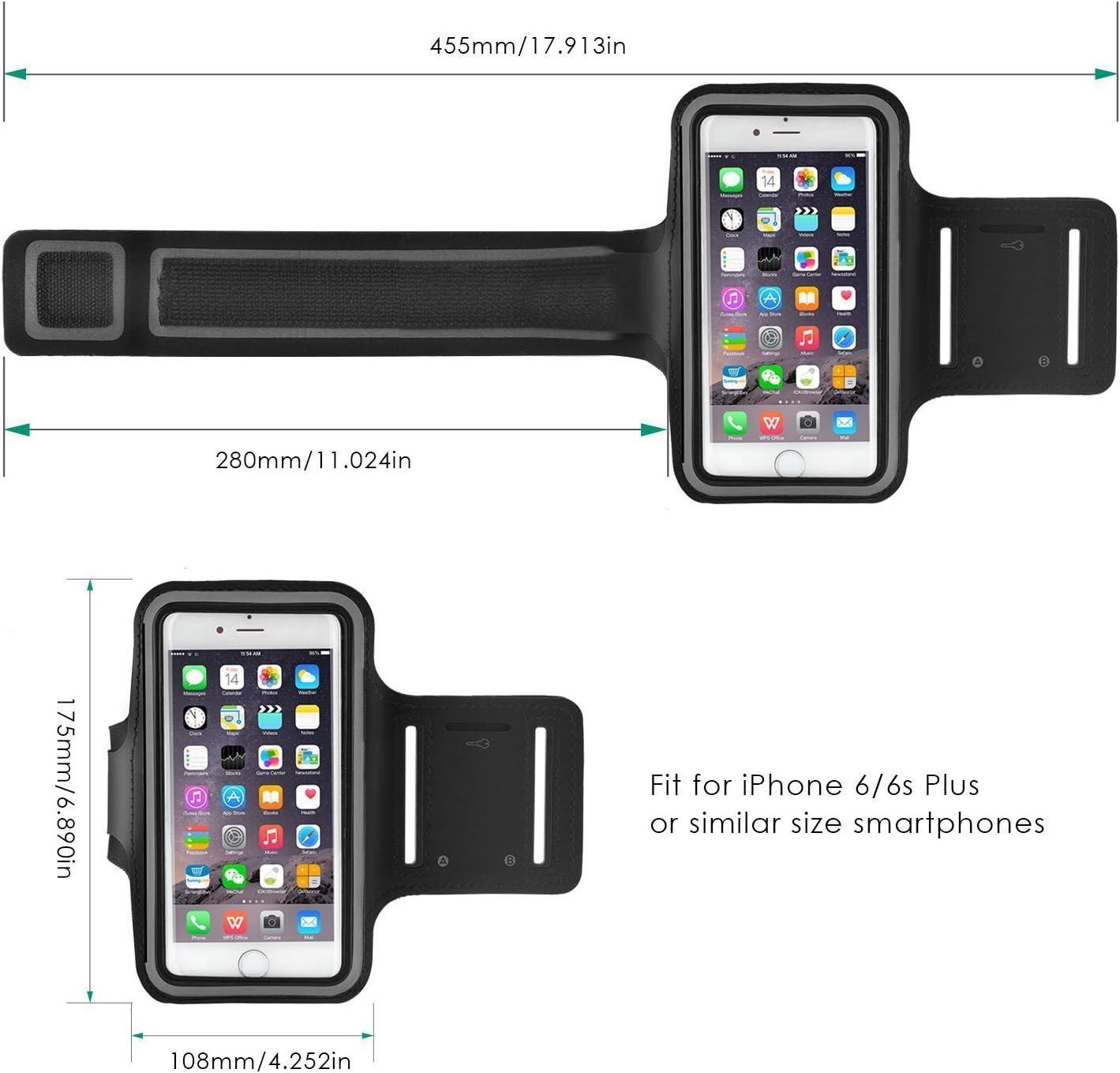 MM-Mobitec Motorola Moto X4 Sportarmband Neopren Fitness Armband Wasserfestes Sport-Armband mit Schl/üsselhalter