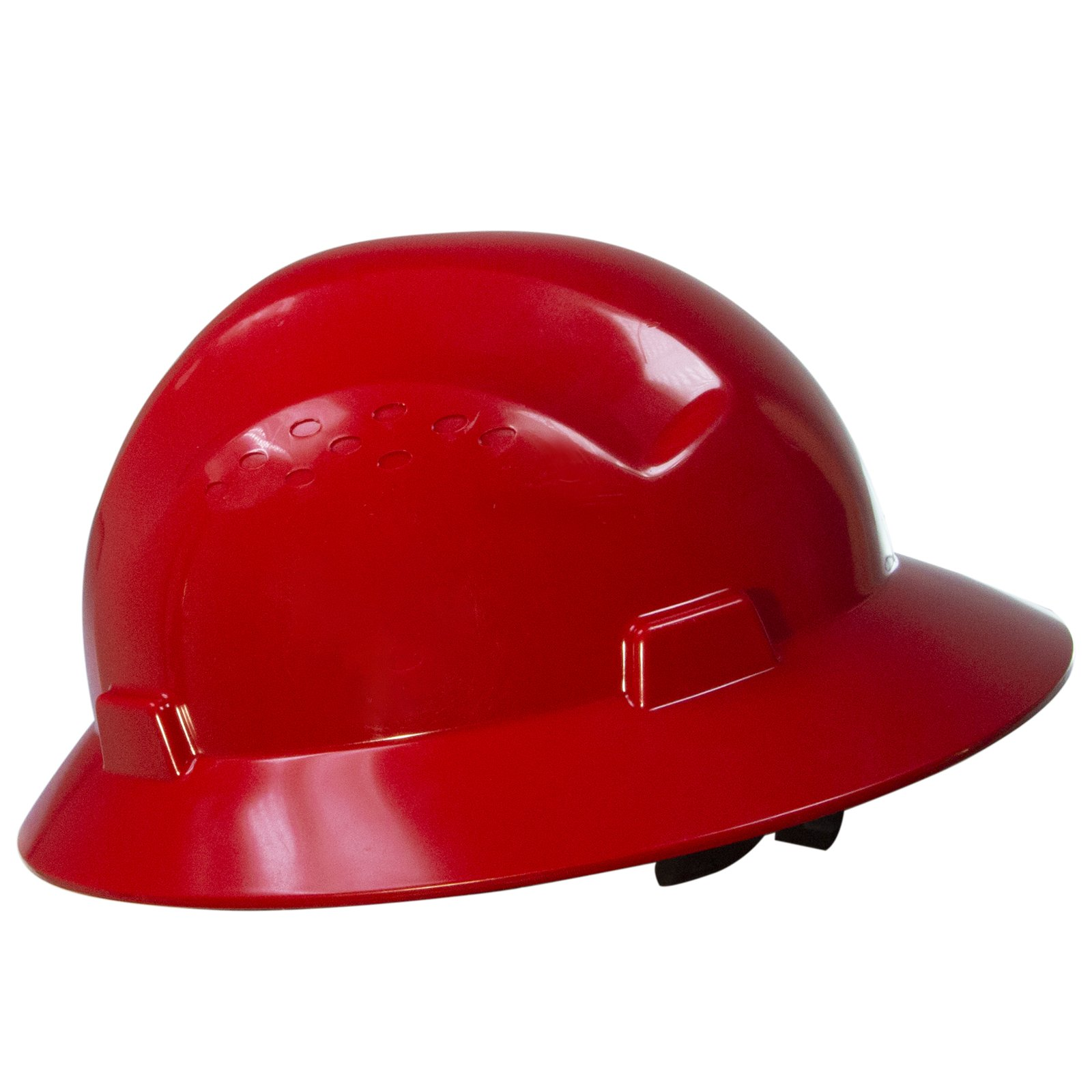 PPE By JORESTECH - HDPE Full Brim Style Hard Hat Helmet w/Adjustable Ratchet Suspension For Work, Home, and General Headwear Protection ANSI Z89.1-14 Compliant (Red) by JORESTECH (Image #3)