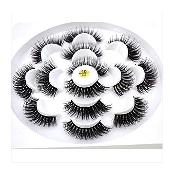 936042357b2 Little cute shop 7 pairs natural false eyelashes fake lashes long makeup 3d  mink lashes eyelash