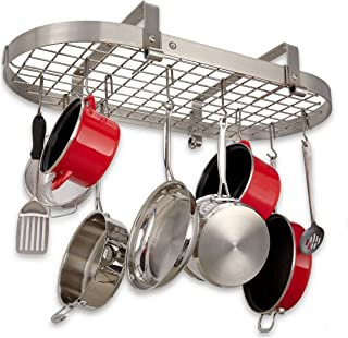 product image for Enclume Premier Low Ceiling Oval Pot Rack, Stainless Steel