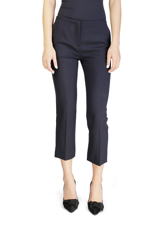 Miu Miu Women's Virgin Wool Slim Fit Pants Black