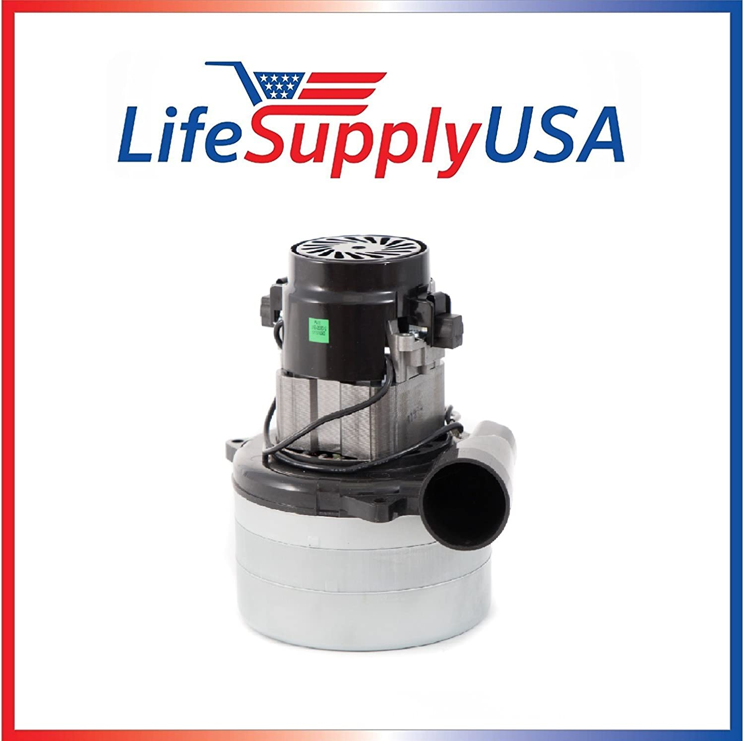 "Central Vac Vacuum Motor 3 STAGE with Wires Compatible with Most Brands 5.7"" 120 Volt 1400 Watt by LifeSupplyUSA"