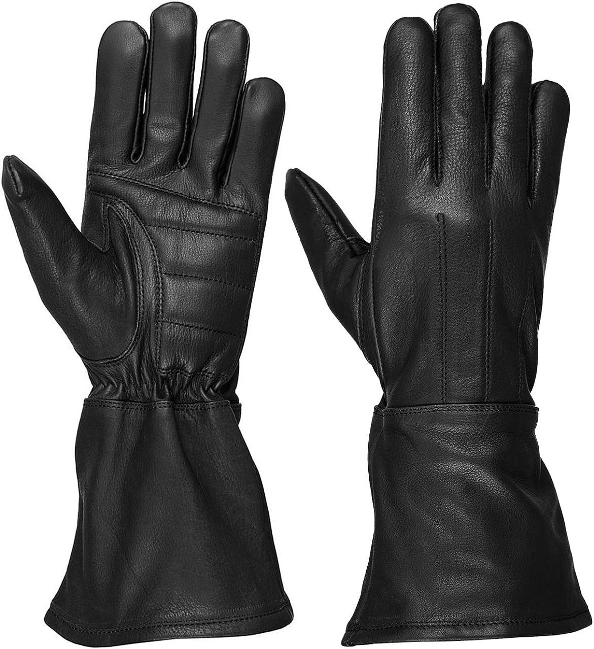 Deluxe Hugger Men's Overseas parallel import regular item Unlined Extra Long Gauntlet Leather Water Resistant