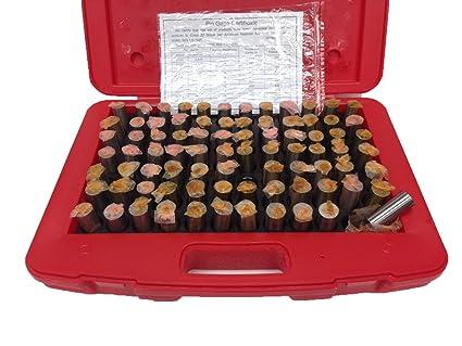 MC-0-M .011-.060 By .001 Minus Tolerance Pin Gage Set 50 Gages