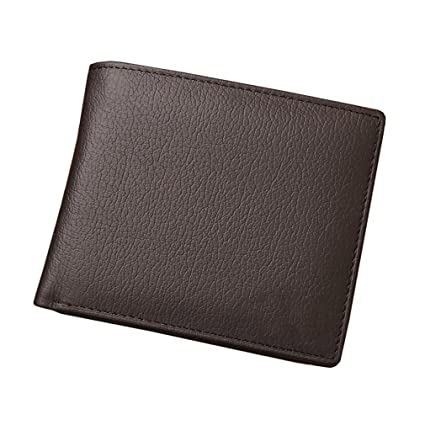 Amazon.com  LEKCNSK Leather Men Wallets Short Design Id Card Holder ... 0b02af5fd0