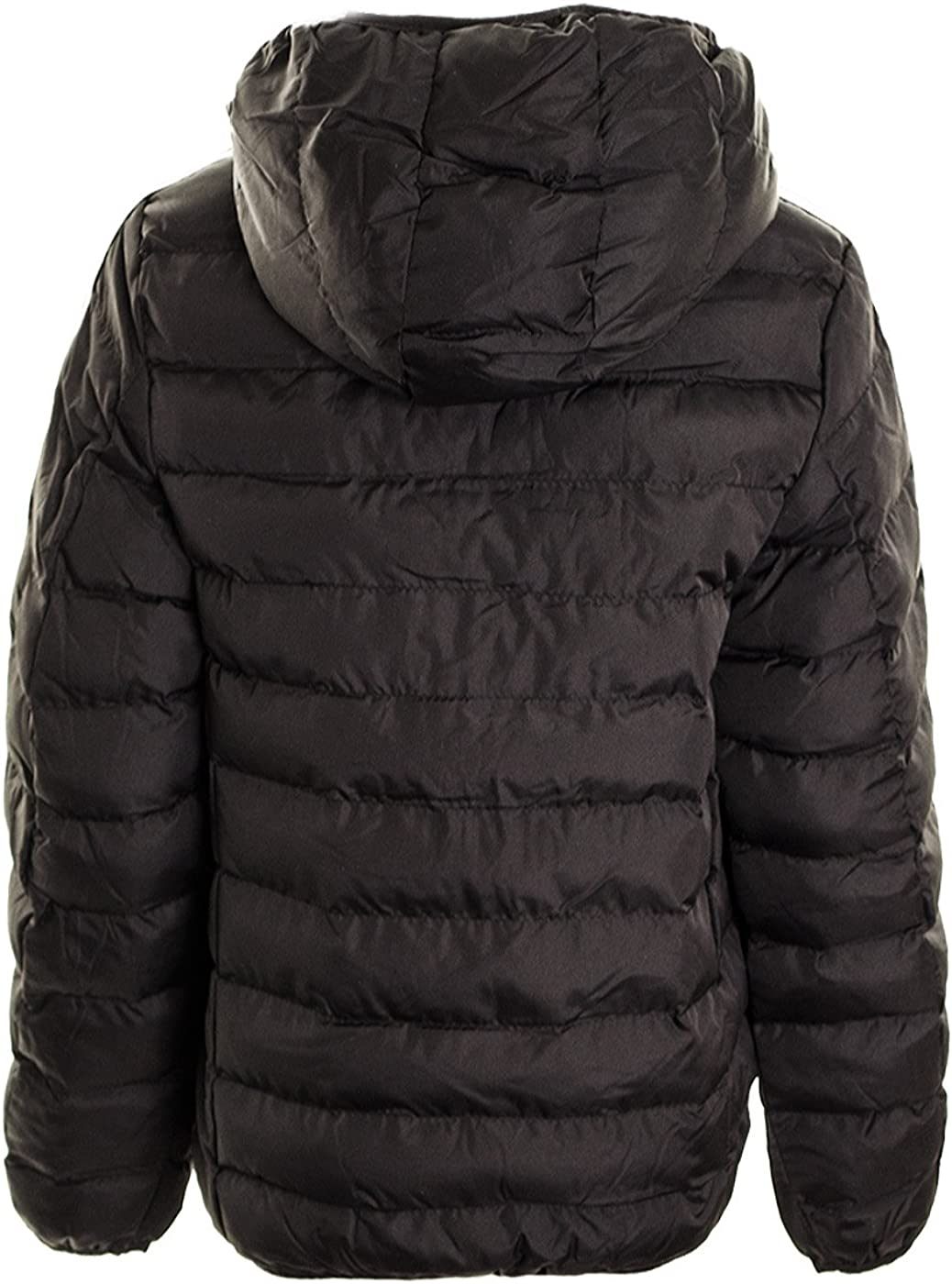 Boy/'s Hooded Puffer Quilted Padded Bomber Jacket School Parka Coat  Age 7-13