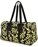 """Belvah Large Quilted Damask Print 21"""" Duffle Bag - Chioce of Colors"""