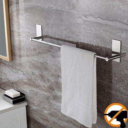 Amazoncom Adhesive Towel Bar Self Adhesive Bathroom Holder 2755