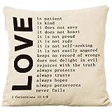 Couple pillowcase, Laimeng Square Pillow Cover Cushion Case Toss Pillowcase Hidden Zipper Closure