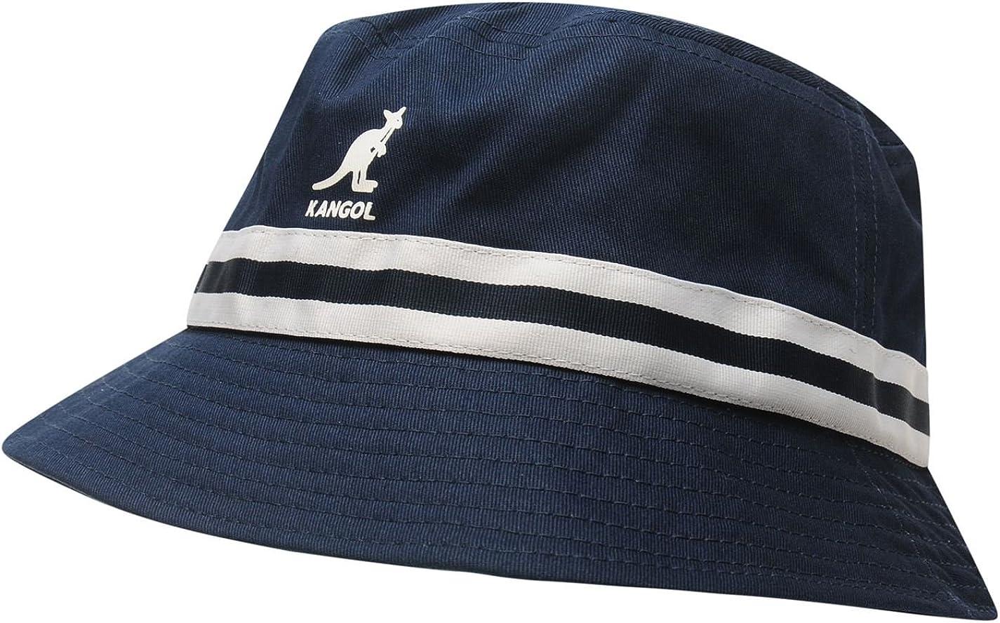 Kangol - Sombrero de rayas para hombre azul claro Small: Amazon.es ...