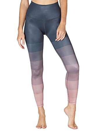 4d1434fc643bc Beyond Yoga Women's Engineered Lux High-Waisted Midi Leggings Island Ombre  X-Large 26