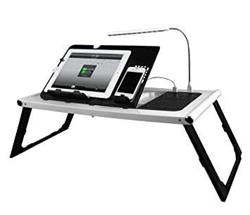 Amazon.com: Smart Charging Table Portable Adjustable Bed Tray ...