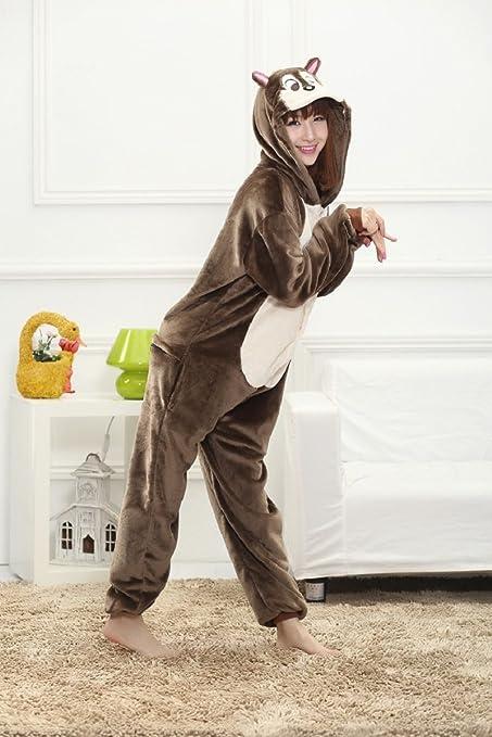 Colorfulworld Pijamas Juguetes y Juegos Animal Ropa Animales Pijama Cosplay Disfraces (M, Chipmunk)