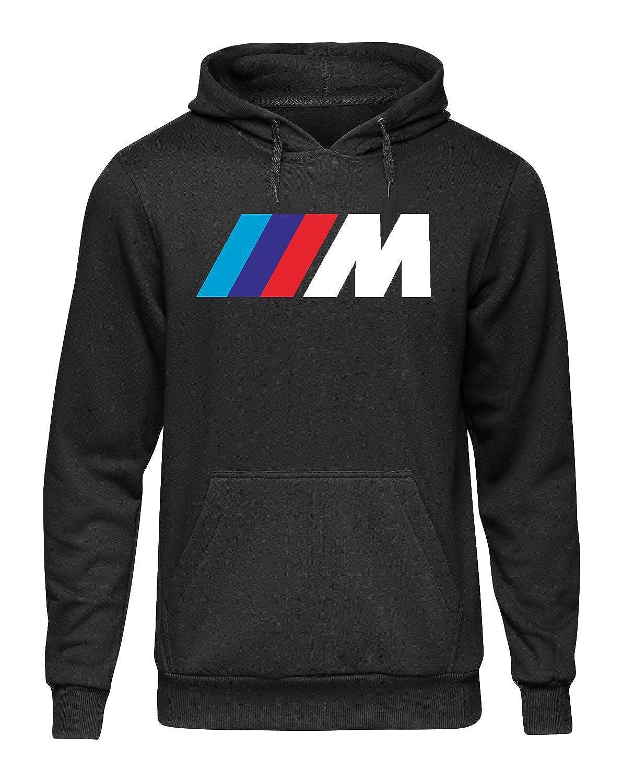 Felpa con Cappuccio e Tasca Stile Fan BMW Serie M Rally Auto Racing Moto GTA Non Ufficiale COLT48