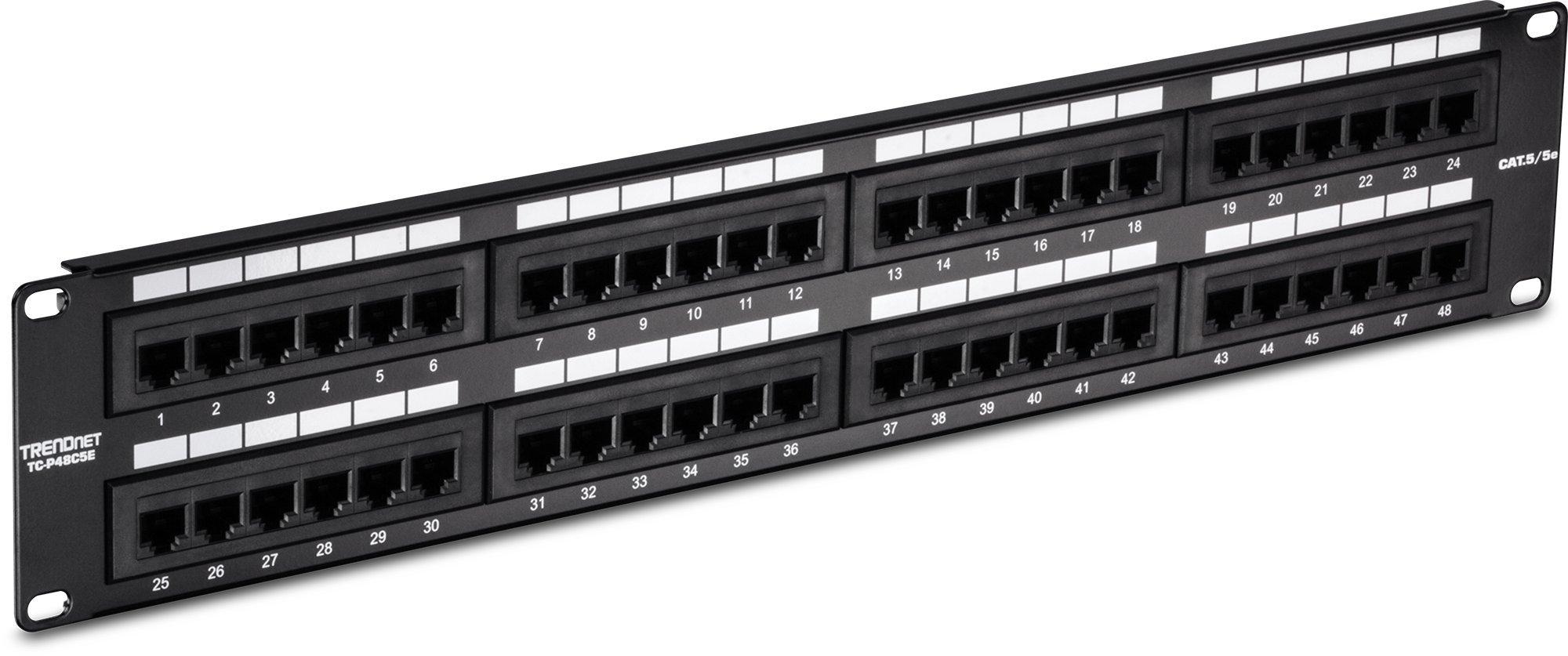 Trendnet 48 Port Cat5 5e Unshielded Wallmount Or Rackmount Patch Cat 5 Wiring Schemes Panel Backwards Compatible