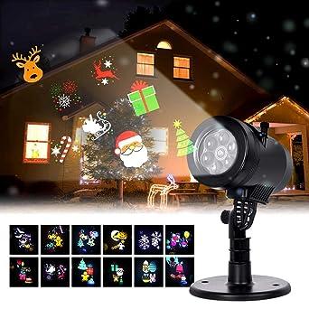 5a29aa05202 Albrillo Luces de Proyector Navidad - Interior y Exterior Fochea IP44 LED  Luces Proyección con 12