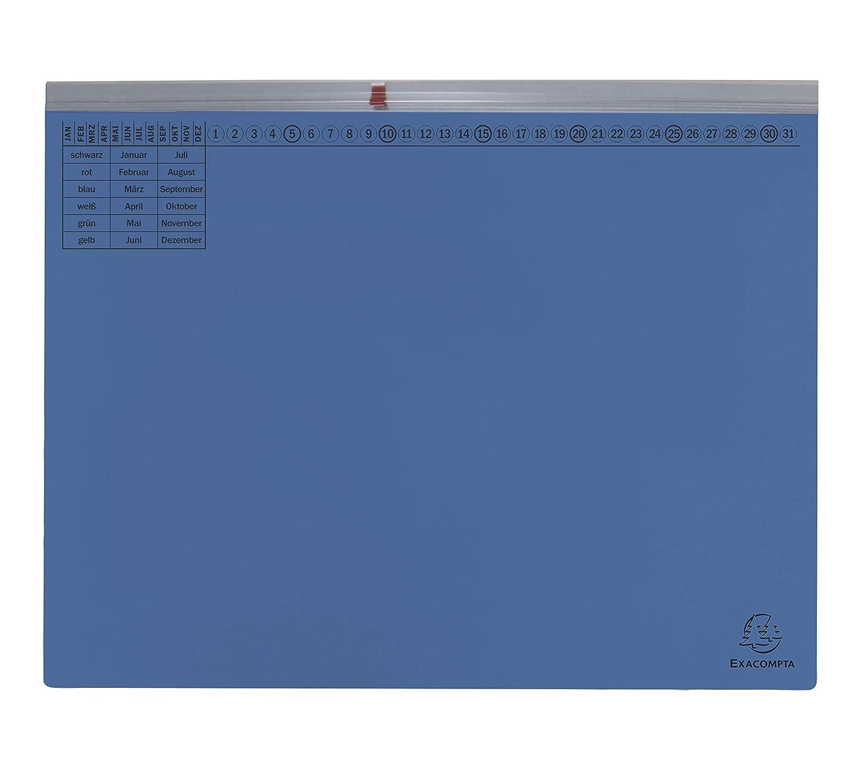aus extra starkem Karton, 320 g//qm, mit gro/ßer dehnbaren Tasche zur Aufnahme von losem Schriftgut Exacompta 371106B Packung mit 25 Kanzlei H/ängehefter Exaflex Premium 1 Pack hellblau