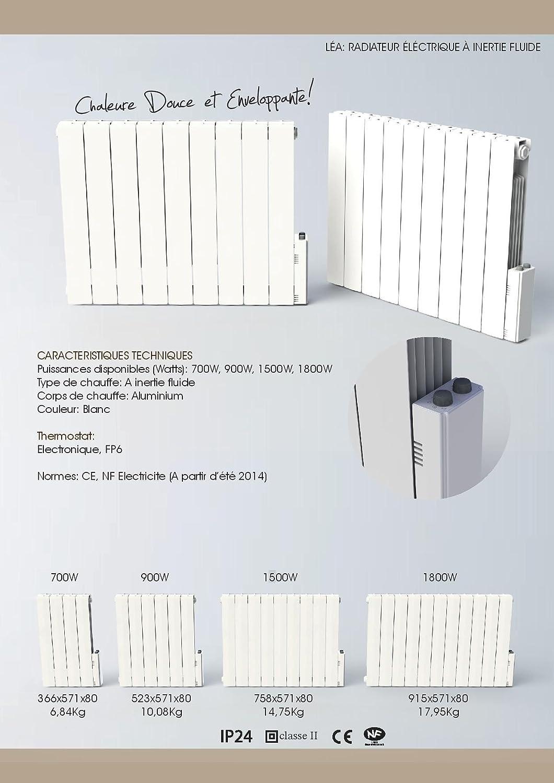 Heliom DIO080923 Radiateur fluide thermostat /électronique l/éa 1800 W