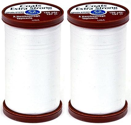 Coats Clark Extra Strong Upholstery Thread 150 Yard White Coats