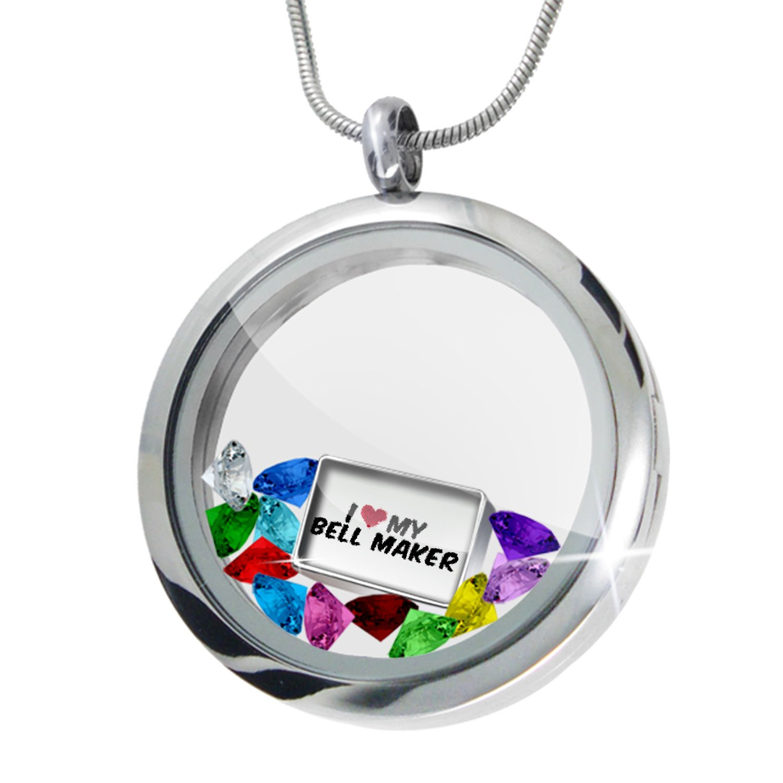 amazon com floating locket set i heart love my bell maker