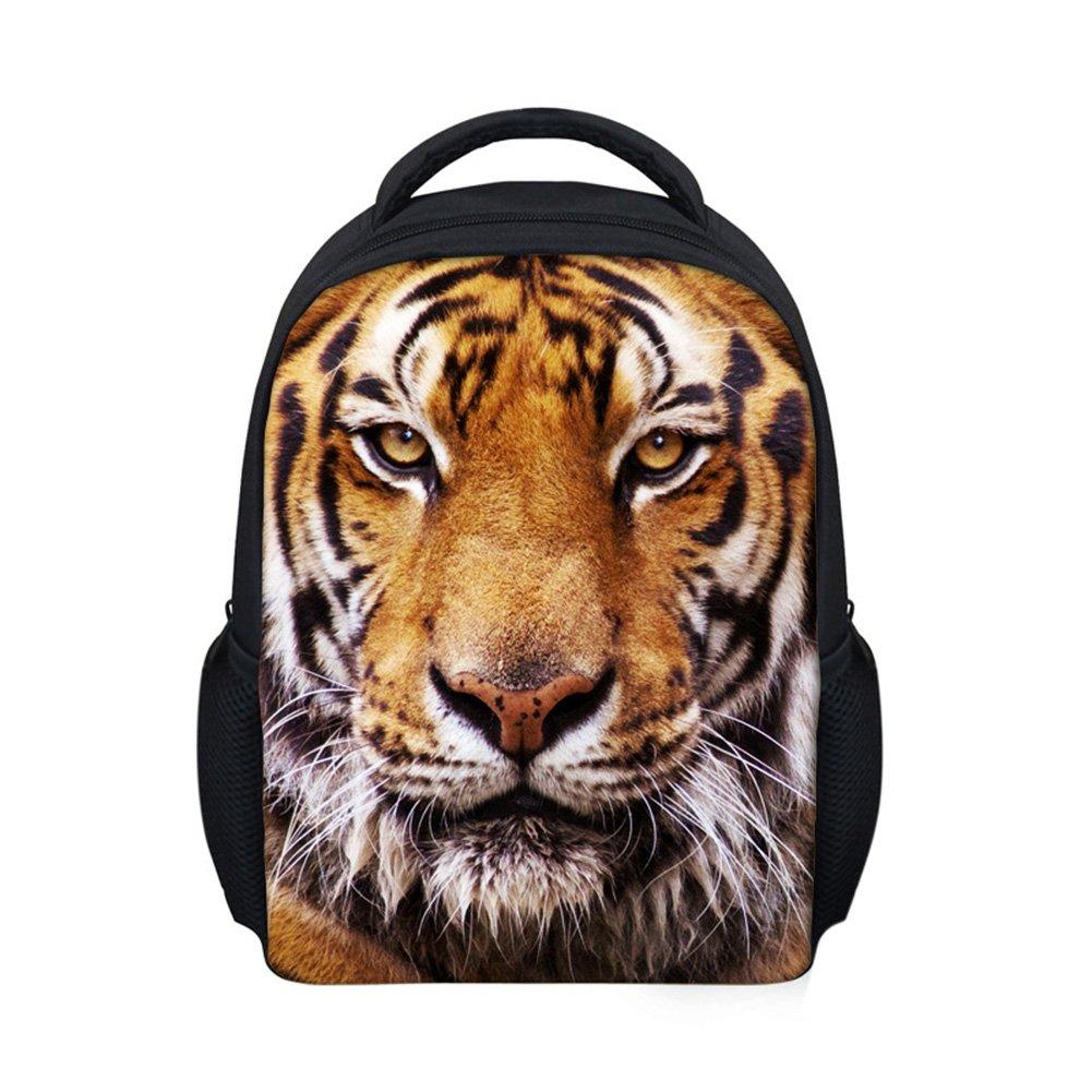 Zehui 3D Animal Pattern Children Schoolbag Backpack for Kindergarten 3-6 Years Old Kids Brown