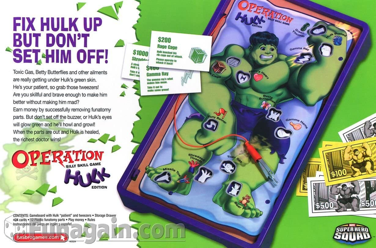 Hulk Operation Game Replacement Funatomy Parts You Choose