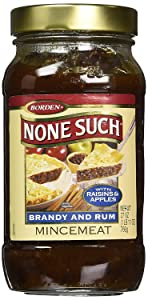 Borden Naturals Rum and Brandy Mincemeat Pie Filling and Topping   (1) 27 Ounce Jar – Gourmet, All Natural, and Free of High Fructose Corn Syrup!