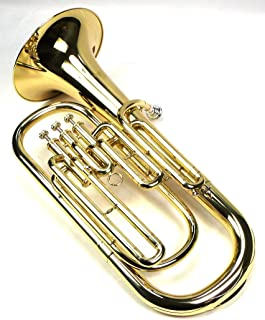 Advanced Monel Pistons Bb Baritone Horn w/Case and Mouthpiece-Gold Lacquer Finish