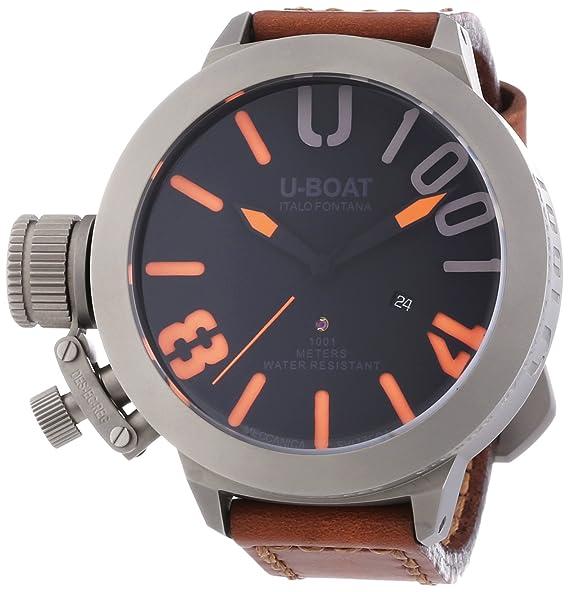 U-Boat 5868 - Reloj de automático para hombre, con correa de cuero,