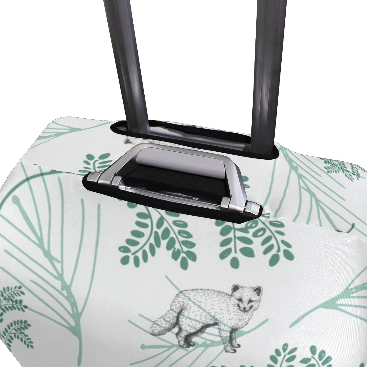 Elastic Travel Luggage Cover Wolf Suitcase Protector for 18-20 Inch Luggage