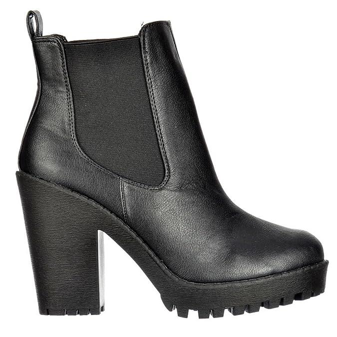 Onlineshoe Damen Rihanna Klassische Chelsea Stiefel UK7 - Eu40 - Us9 - Au8 Schwarz RdrhmDu