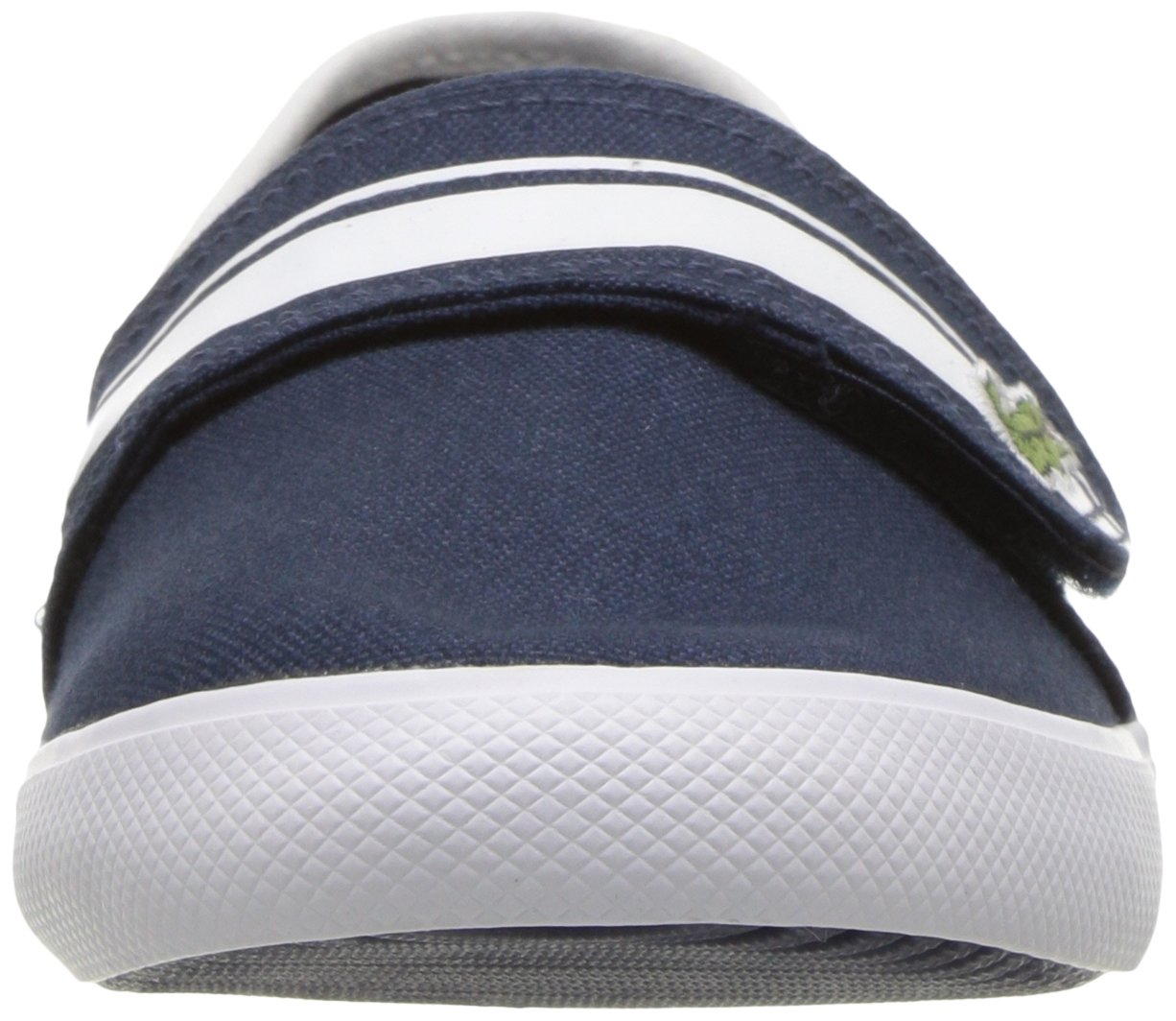 Lacoste Kids' Marice Slip-ONS,Navy/White Cotton Canvas,13. M US Little Kid by Lacoste (Image #4)