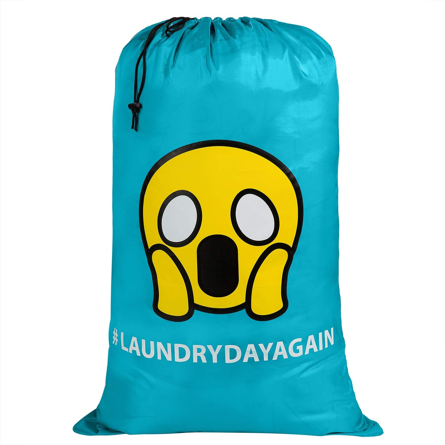 KSMA Travel Large Laundry Bag 24X36 Inches,Printed Rip-Stop Nylon Heavy Duty Dirty Clothes Bag with Drawstring Hamper Liner