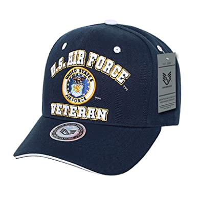 d40a2e7fc67d7 Image Unavailable. Image not available for. Color: US Air Force Veteran  Embroidered Baseball Cap Hat (Navy ...