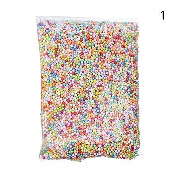 c-pioneer varios colores bolas de plástico DIY perlas de espuma manualidades para niños caseros Slime casa decorativa boda y decoraciones de fiesta: ...