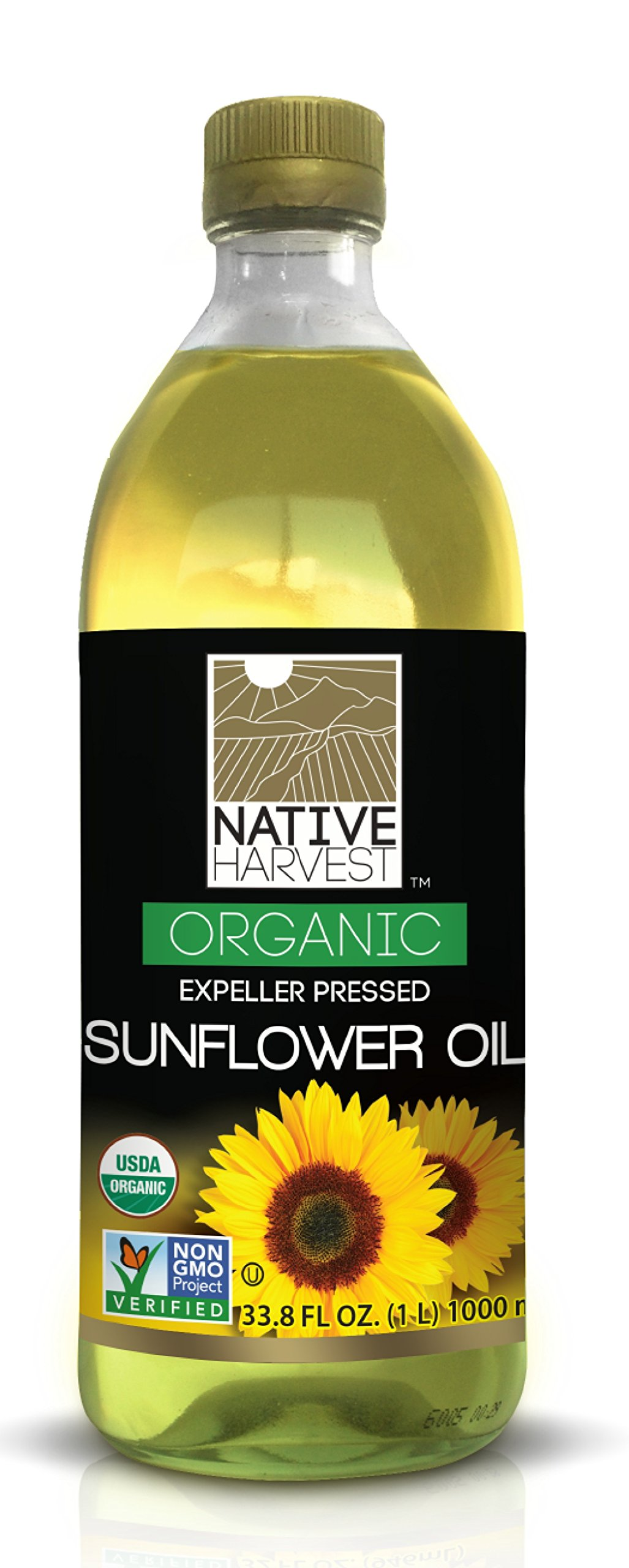 Native Harvest Organic Non-GMO Naturally Expeller Pressed Sunflower Oil, 1 Litre (33.8 FL OZ) by Native Harvest (Image #1)