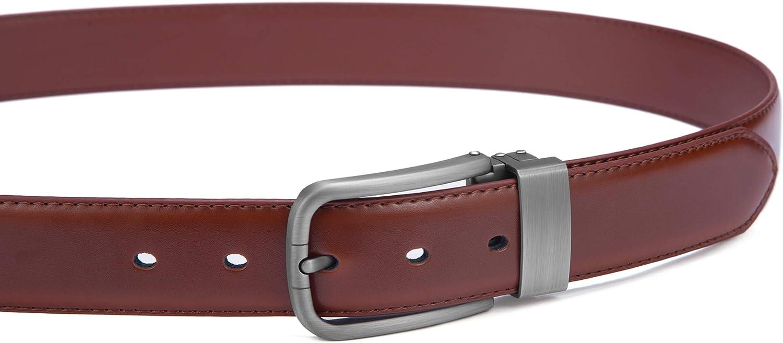 Mens Belt,Bulliant Leather Adjustable Belt for Men Dress Casual 1 3//8,Trim to Fit