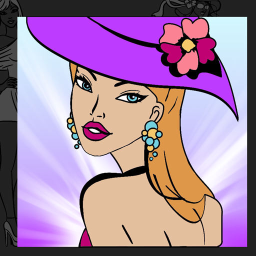 Fashion Girl Coloring Book - App Models Wish