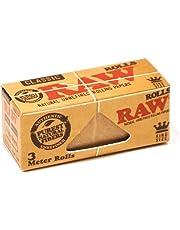 Raw - Cartine classiche naturali, misura grande, confezione da 3 rotoli di trendz