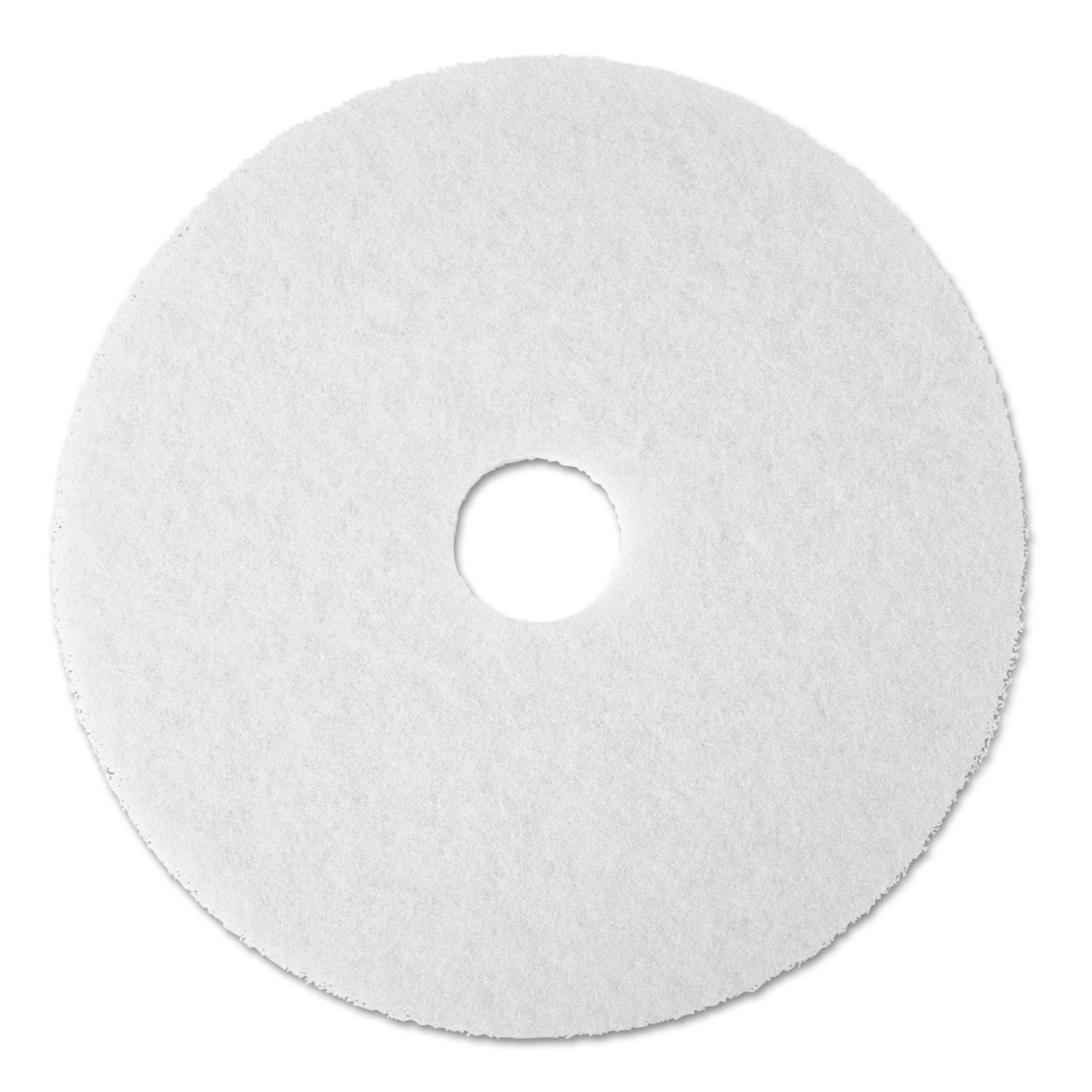 3M Commercial Ofc Sup Div 08476 Super Polish Pad,Removes Scuff/Black Heel,12 in.,5/CT,White 3M 08476 MMM08476-UN0912NU