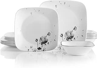 product image for Corelle Service for 6, Chip Resistant, Fleurs du Soir Dinnerware Set, 18-Piece