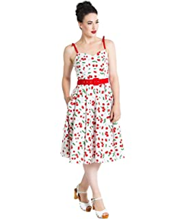 7db56a2571 Hell Bunny 50s Nautical Blue   White Dress Oceana Pin Up Rockabilly ...