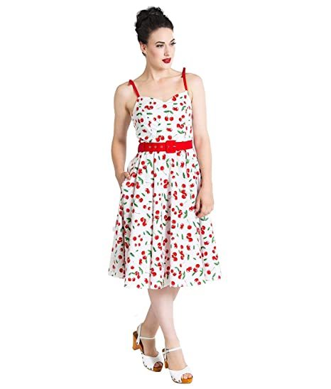 3362fd914474 Hell Bunny Sweetie Cherry 50s Style Summer Dress: Amazon.co.uk: Clothing