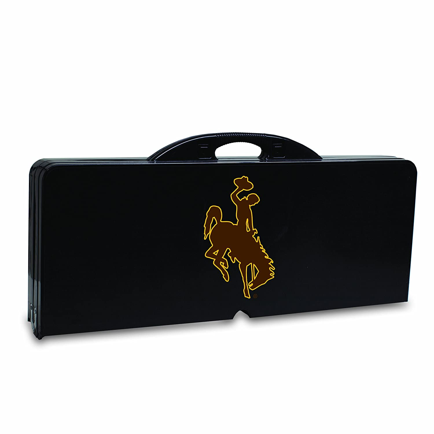 Picnic Time Folding Table Wyoming Cowboys