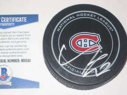 99bc34042 Alex Galchenyuk Signed Montreal Canadiens Official Game Puck ...