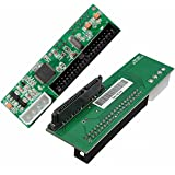 QNINE SATA to IDE Adapter, 2.5 or 3.5 Inch HDD or SSD SATA Hard Drive to 40 Pin 3.5 Inch PATA Desktop Converter Card