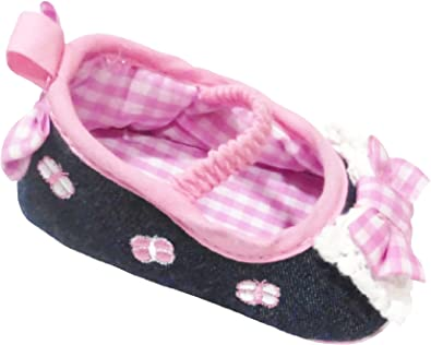Baby Girls Shoes with Pink Gingham