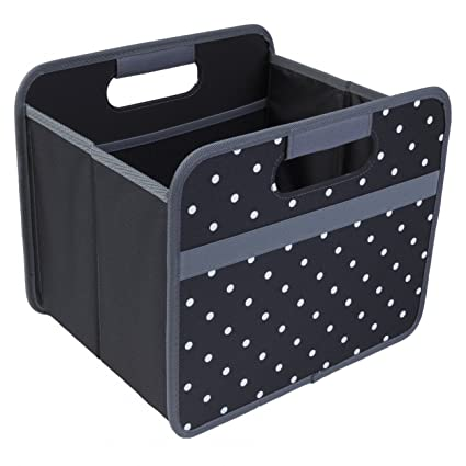 Meori® 15L Caja Plegable Organizador para Ikea Kallax Color Negro puntos