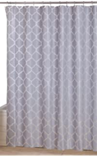 Utopia Home Opulent Printed Shower Curtains,Grey Pattern,72 X 72 Inches