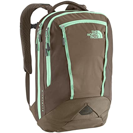 The North Face Women s Women s Microbyte Brindle Brown Surf Green Backpack 62f9f7139